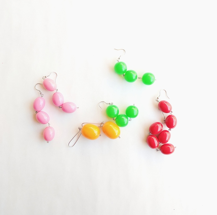 DIY Daisy Dead Stock Japanese Bead Earrings